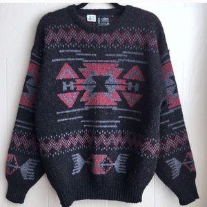 Vintage Wool Southwestern Oversized Sweater